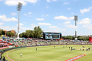 General shots of the ground prior to the International T20 match between South Africa and England at Supersport Park, Centurion, South Africa on 16 February 2020.
