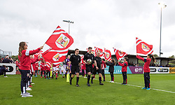 Guard of honour - Mandatory by-line: Paul Knight/JMP - 30/09/2017 - FOOTBALL - Stoke Gifford Stadium - Bristol, England - Bristol City Women v Yeovil Town Ladies - FA Women's Super League 1