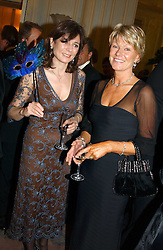 Left to right, LUCY MANNERS and KATE SLATER she was formerly Kate Menzies, a close friend of the late Diana, Princess of Wales at 'A Rout' an evening of late evening party, essentially of revellers in aid of the Great Ormond Street Hospital Children's Charity and held at Claridge's, Brook Street, London W1 on 25th January 2005.<br /><br />NON EXCLUSIVE - WORLD RIGHTS