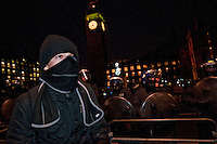 Student protesters take over Parliament Square protesting government Education cuts 11,12,10