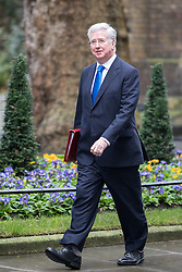 CAPTION CORRECTION. INCORRECTLY CAPTIONED AS LIAM FOX EARLIER © Licensed to London News Pictures. 07/02/2017. London, UK. Defence Secretary Michael Fallon arriving at Downing Street for a Cabinet meeting this morning. Photo credit : Tom Nicholson/LNP