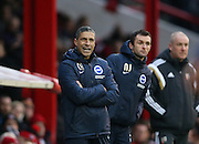 Chris Hughton during the The FA Cup match between Brentford and Brighton and Hove Albion at Griffin Park, London, England on 3 January 2015.