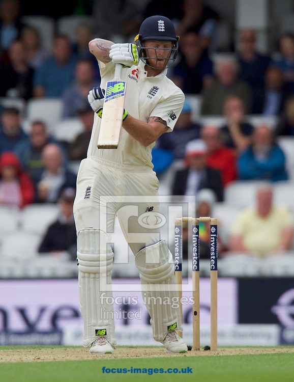 Ben Stokes of England batting during the 100th Investec Test Match match at the Kia Oval, London<br /> Picture by Alan Stanford/Focus Images Ltd +44 7915 056117<br /> 28/07/2017