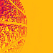 An artistic studio shot of a basketball with a photoshop colour harmonies effect. 26th October 2012. Photo Tim Clayton