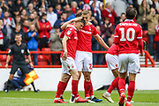 Joe Lolley (23) scores and celebrates during the EFL Sky Bet Championship match between Nottingham Forest and Bolton Wanderers at the City Ground, Nottingham, England on 5 May 2019.