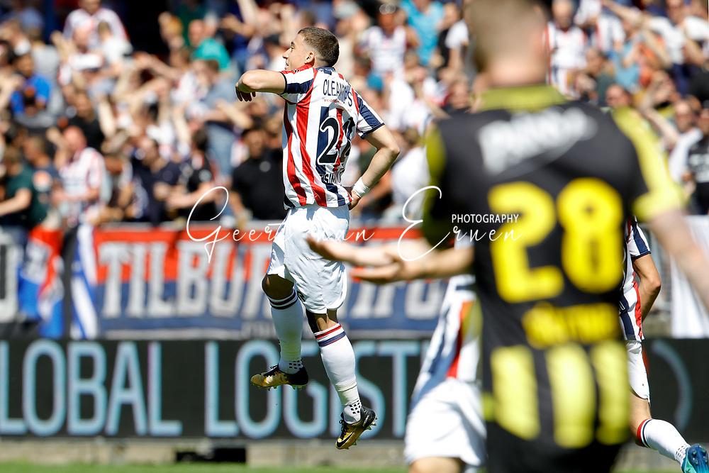 *Konstantinos Tsimikas* of Willem II celebrates 1-0