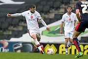 MK Dons forward Jake Forster-Caskey during the Sky Bet Championship match between Milton Keynes Dons and Rotherham United at stadium:mk, Milton Keynes, England on 9 April 2016. Photo by Dennis Goodwin.