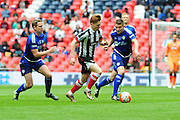 Grimsby Town midfielder Jon Nolan during the FA Trophy match between Grimsby Town FC and Halifax Town at Wembley Stadium, London, England on 22 May 2016. Photo by Mike Sheridan.