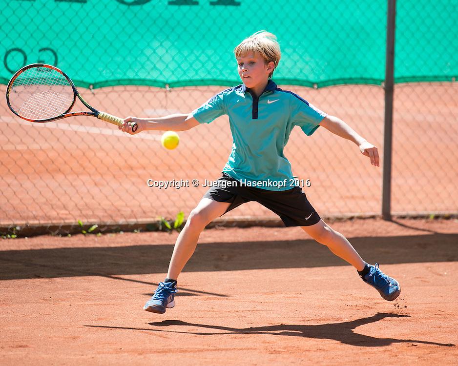 Bavarian Junior Open, U-12, Nicolas Pfennig<br /> <br /> Tennis - Bavarian Junior Open 2016 - Tennis Europe Junior Tour -  SC Eching - Eching - Bayern - Germany  - 13 August 2016. <br /> &copy; Juergen Hasenkopf