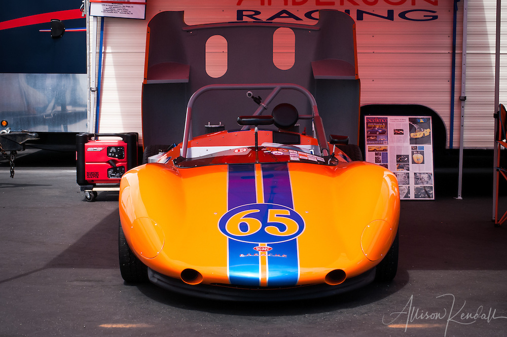 A 1964 Bobsy-porsche SR-3 owned and driven by Donald Anderson at the Rolex Monterey Motorsports Reunion 2013