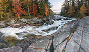 Although small, the cascades of Little Niagara Falls are particularly attractive in the fall,  and a popular hiking destination in Baxter State Park, Maine, USA