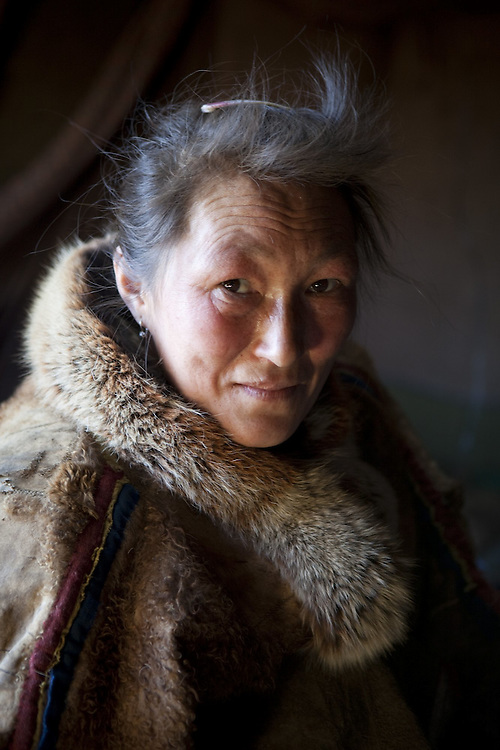 Sept 2009 Yamal Peninsula, Siberia, Russia - global warming impacts story on the Nenet people , reindeer herders in the Yamal Peninsula - Mrs Yabtchik