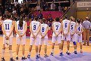 VANNES, 16 GIUGNO 2013<br /> EUROBASKET WOMAN 2013<br /> ITALIA - SPAGNA<br /> NELLA FOTO: team italia<br /> FOTO CIAMILLO