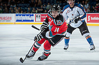 KELOWNA, CANADA - DECEMBER 7: Rourke Chartier #14 of the Kelowna Rockets skates against the Kootenay Ice on December 7, 2013 at Prospera Place in Kelowna, British Columbia, Canada.   (Photo by Marissa Baecker/Shoot the Breeze)  ***  Local Caption  ***