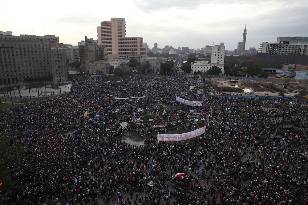 """Day of Departure"" at Tahrir Square in central Cairo."
