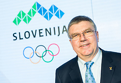 Thomas Bach, IOC  International Olympic Committee president during official presentation of the Designer wear for Slovenian Athletes at Rio Summer Olympic Games 2016, on April 15, 2016 in Hotel Lev, Ljubljana, Slovenia. Photo by Vid Ponikvar / Sportida