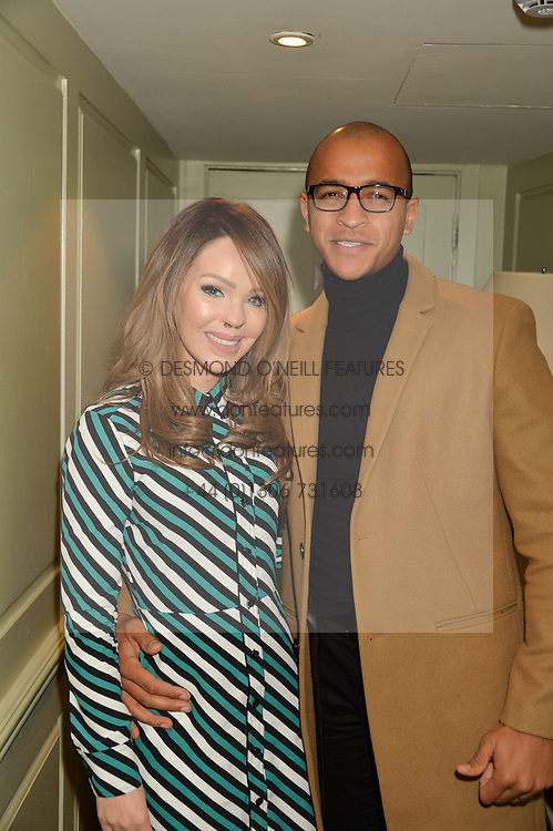 KATIE PIPER and her husband RICHARD JAMES SUTTON at a party to celebrate the publication of The Stylist by Rosie Nixon held at Soho House, London on 10th February 2016.