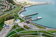Nederland, Zeeland, Breskens, 19-10-2014; Veerhaven met Fast Ferry Vlissingen-Breskens (Veolia Fast Ferries Fietsvoetveer)<br /> Port of Breskens, ferry terminal.<br /> luchtfoto (toeslag op standard tarieven);<br /> aerial photo (additional fee required);<br /> copyright foto/photo Siebe Swart