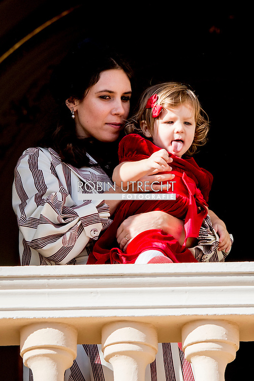 19-11-2016 - MONACO - Princess Charlene of Monaco with Princess Gabriela and Prince Albert II of Monaco with Prince Jacques . The National Day of Monaco also known as The Sovereign Prince's Day is currently annually celebrated on 19 November.  Tatiana Santo Domingo and India Casiraghi Tatiana Santo Domingo withAndrea Casiragui and Daughter India COPYRIGHT ROBIN UTRECHT<br /> <br /> 19-11-2016 - MONACO - Prinses Charlene van Monaco met Prinses Gabriela en Prins Albert II van Monaco met Prins Jacques. De Nationale Dag van Monaco ook bekend als The Sovereign Prinsjesdag wordt momenteel jaarlijks gevierd op 19 november. COPYRIGHT ROBIN UTRECHT