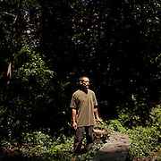 Michael Hendricks is a forager and gardener who provides the edibles he finds to local restaurants. He is seen in Atlanta May 19, 2012.