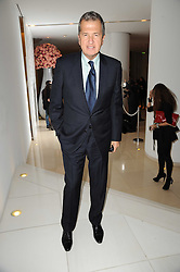 MARIO TESTINO at a party to celebrate Lancome's 10th anniversary of sponsorship of the BAFTA's in association with Harper's Bazaar magazine held at St.Martin's Lane Hotel, London on 19th February 2010.