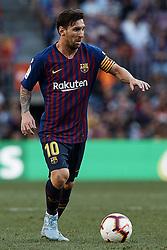 September 29, 2018 - Barcelona, Barcelona, Spain - Leo Messi of FC Barcelona in action during the La Liga match between FC Barcelona and Athletic Club de Bilbao at Camp Nou on September 29, 2018 in Barcelona, Spain  (Credit Image: © David Aliaga/NurPhoto/ZUMA Press)