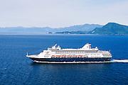 Alaska. Clarence Strait. Holland America Cruise ship vessel Statendam