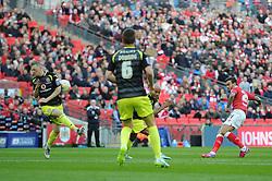 Bristol City's Marlon Pack takes a shot at goal. - Photo mandatory by-line: Dougie Allward/JMP - Mobile: 07966 386802 - 22/03/2015 - SPORT - Football - London - Wembley Stadium - Bristol City v Walsall - Johnstone Paint Trophy Final