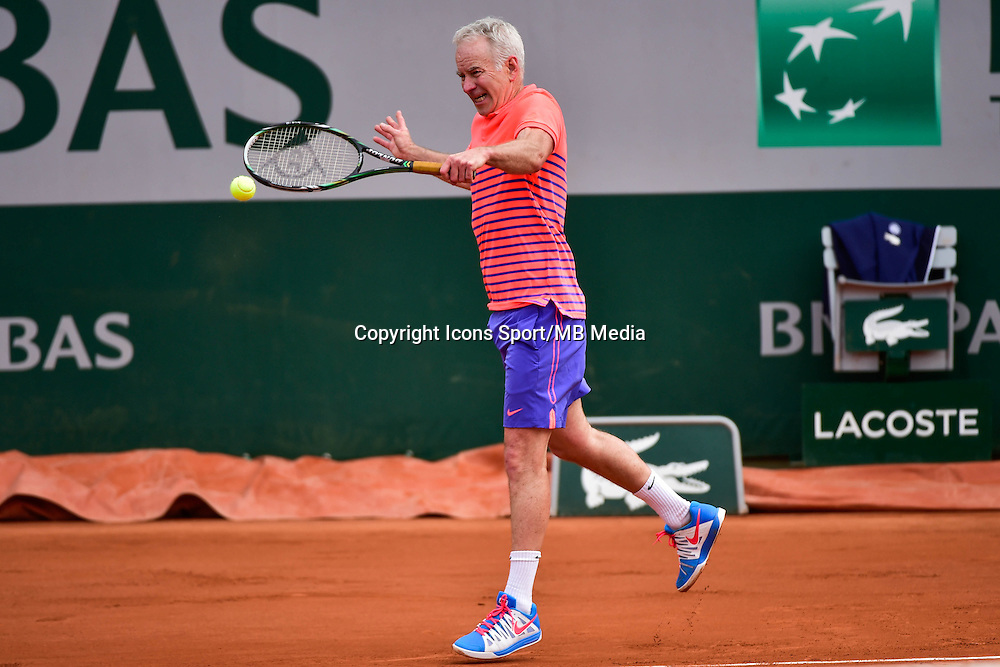 John McENROE  - 03.06.2015 - Jour 11 - Roland Garros 2015<br />