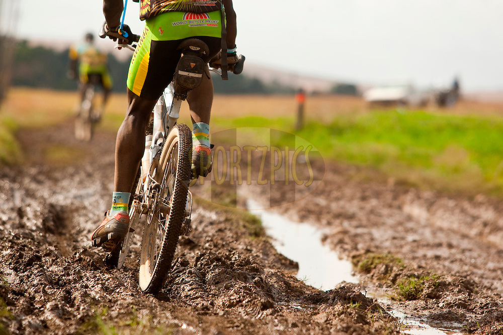 GREYTON, SOUTH AFRICA - riders had experienced some mud during stage four of the Absa Cape Epic Mountain Bike Stage Race held in Greyton on the 25 March 2009 in the Western Cape, South Africa..Photo by Sven Martin /SPORTZPICS