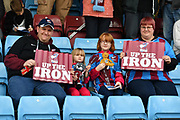 Scunthorpe united fans  during the EFL Sky Bet League 1 match between Scunthorpe United and Chesterfield at Glanford Park, Scunthorpe, England on 17 April 2017. Photo by Ian Lyall.