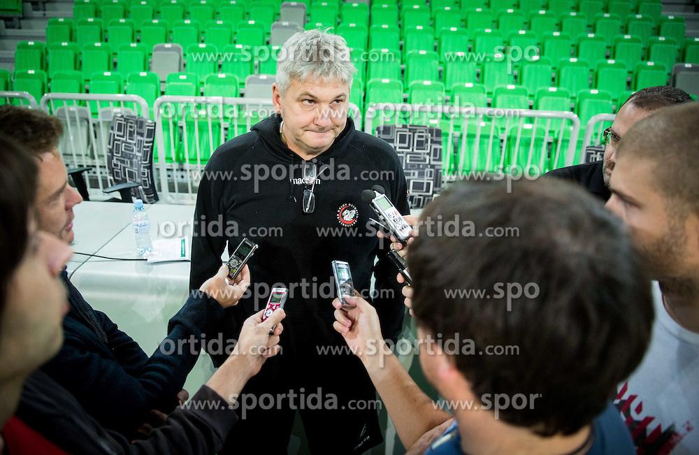 Ales Pipan, head coach during Media day of basketball club KK Union Olimpija before new season 2014/15, on September 24, 2014 in Arena Stozice, Ljubljana, Slovenia. Photo by Vid Ponikvar / Sportida.com