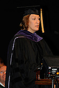 Ohio Secretary of State Jennifer Brunner delivered the keynote address at the College of Osteopathic Medicine's commencement on June 7.
