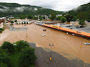 Flooding closed the Dollar General, the one store in Richwood that still sells groceries. Photo by Jeromy Rose.