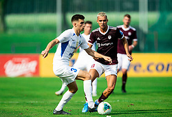 Dusan Stojinovic of Celje vs David Tijanić of Triglav during football match between NK Triglav and NK Celje in 7th Round of Prva liga Telekom Slovenije 2019/20, on August 25, 2019 in Sports park, Kranj, Slovenia. Photo by Vid Ponikvar / Sportida