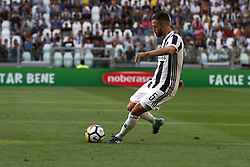 August 19, 2017 - Turin, Italy - Miralem Pjanic of Juventus shoots the ball during the Serie A football match n.1 JUVENTUS - CAGLIARI on 19/08/2017 at the Allianz Stadium in Turin, Italy. (Credit Image: © Matteo Bottanelli/NurPhoto via ZUMA Press)