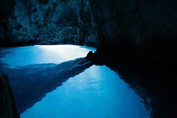 THEMENBILD - Die kroatische Insel Bisevo in der Adria ist bekannt für ihre vielen Höhlen. Die bekannteste Höhle ist die blaue Grotte, besonders schön sind dort die Lichteffekte, die durch die Brechung der Sonnenstrahlen an der Wasseroberfläche entstehen. Aufgenommen am 24. August 2013 // THEMES PICTURE - The Croatian island in the Adriatic Bisevo is known for its many caves. The most famous cave is the Blue Grotto, there are the most beautiful light effects that occur at the surface due to the refraction of the sun's rays. Pictured on 24th of August 2013. EXPA Pictures © 2013, PhotoCredit: EXPA/ Pixsell/ Dalibor Urukalovic<br /> <br /> ***** ATTENTION - for AUT, SLO, SUI, ITA, FRA only *****
