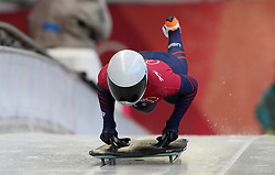 USA's Kendall Wesenberg during the Women's Skeleton practice on day three of the PyeongChang 2018 Winter Olympic Games in South Korea. PRESS ASSOCIATION Photo. Picture date: Monday February 12, 2018. See PA story OLYMPICS Skeleton. Photo credit should read: David Davies/PA Wire. RESTRICTIONS: Editorial use only. No commercial use.