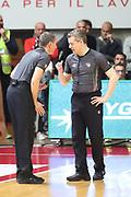 arbitri<br /> Openjobmetis Pallacanestro Varese - Vanoli Cremona<br /> Lega Basket Serie A 2016/2017<br /> Varese 30/04/2017<br /> Foto Ciamillo-Castoria