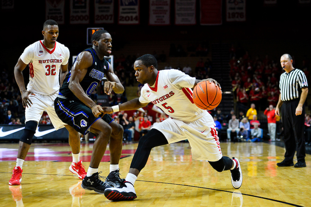 Rutgers takes on Seton Hall on Saturday, December 5, 2015 at Rutgers Athletic Center in Piscataway, NJ.