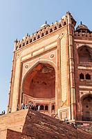 Buland Darwaza is the main entrance to Jama Masjid at Fatehpur Sikri, Uttar Pradesh, India.