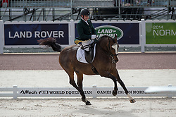 James Dwyer, (IRL), Orlando - Team Competition Grade IV Para Dressage - Alltech FEI World Equestrian Games™ 2014 - Normandy, France.<br /> © Hippo Foto Team - Jon Stroud <br /> 25/06/14