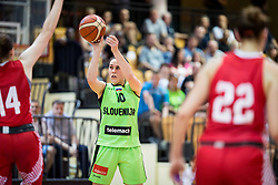 Tina Jakovina of Slovenia during friendly basketball match between Women National teams of Slovenia and Croatia before FIBA Eurobasket Women 2017 in Prague, on June 1, 2017 in Celje, Slovenia. Photo by Vid Ponikvar / Sportida