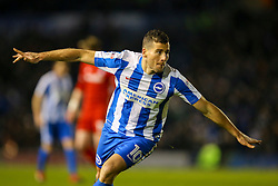 Goal, Tomer Hemed of Brighton & Hove Albion scores, Brighton & Hove Albion 1-0 Cardiff City - Mandatory by-line: Jason Brown/JMP - 24/01/2017 - FOOTBALL - Amex Stadium - Brighton, England - Brighton & Hove Albion v Cardiff City - Sky Bet Championship