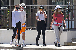 EXCLUSIVE: Pregnant Katherine Schwarzenegger shows off her growing baby bump as she enjoys family time with her mother Maria Shriver, brother Patrick Schwarzenegger and his girlfriend Abby Champion. The quartet enjoyed a long walk in the California sunshine. 24 May 2020 Pictured: Pregnant Katherine Schwarzenegger shows off her growing baby bump as she enjoys family time with her mother Maria Shriver, brother Patrick Schwarzenegger and his girlfriend Abby Champion. The quartet enjoyed a long walk in the California sunshine. Photo credit: p &p/Rachpoot MEGA TheMegaAgency.com +1 888 505 6342