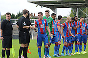 Connor Dymond leads Palace during the U21 Professional Development League match between U21 Crystal Palace and U21 Bolton Wanderers at Selhurst Park, London, England on 17 August 2015. Photo by Michael Hulf.