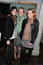 Left to right, HENRIETTA CHANNON, RITA KONIG and CHRISTINE D'ORNANO at a carnival themed party hosted by Stacey Bendet for the Alice & Olivia fashion label at Paradise, Kensal Green, London on 9th November 2011