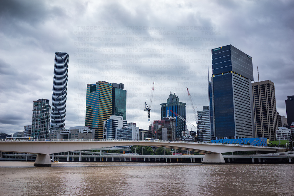Highrise buildings in urban Brisbane