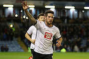 Jacob Butterfield celebrates during the Sky Bet Championship match between Burnley and Derby County at Turf Moor, Burnley, England on 25 January 2016. Photo by Pete Burns.