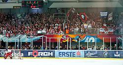 12.04.2011, Volksgarten Arena, Salzburg, AUT, EBEL, FINALE, EC RED BULL SALZBURG vs EC KAC, im Bild hunderte KAC Fans unterstützten ihre Mannschaft in Salzburg, lautstark// during the EBEL Eishockey Final, EC RED BULL SALZBURG vs EC KAC at the Volksgarten Arena, Salzburg, 2011-04-12, EXPA Pictures © 2011, PhotoCredit: EXPA/ J. Feichter